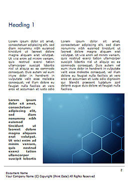 Blue Hive Background Abstract Word Template, First Inner Page, 14495, Technology, Science & Computers — PoweredTemplate.com