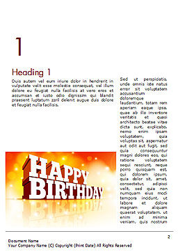 3D Happy Birthday Text Word Template, First Inner Page, 14500, Holiday/Special Occasion — PoweredTemplate.com