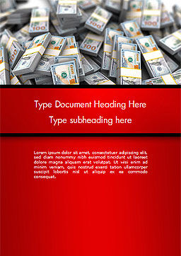 Money Heap Word Template, Cover Page, 14504, Financial/Accounting — PoweredTemplate.com