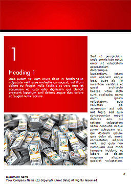 Money Heap Word Template, First Inner Page, 14504, Financial/Accounting — PoweredTemplate.com