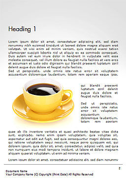 Yellow Cup and Saucer Word Template First Inner Page