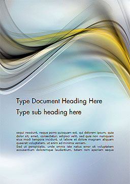 Abstract Background with Soft Waves Word Template, Cover Page, 14509, Abstract/Textures — PoweredTemplate.com