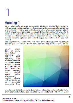 Polygonal Abstract Background with Rainbow Triangles Word Template First Inner Page