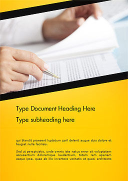 Woman Working with Text Word Template Cover Page