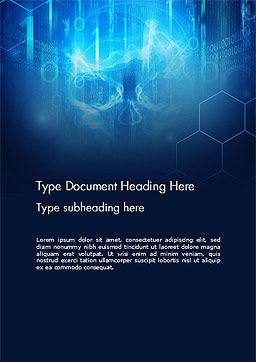 Digital Abstract Background with Skull Word Template, Cover Page, 14524, Technology, Science & Computers — PoweredTemplate.com
