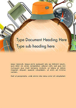Camping Theme Word Template, Cover Page, 14525, Art & Entertainment — PoweredTemplate.com