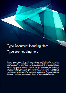 Dynamic Composition Abstract Word Template Cover Page