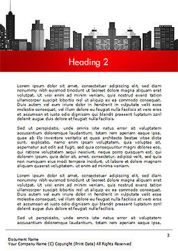 Modern City Silhouette Word Template Second Inner Page