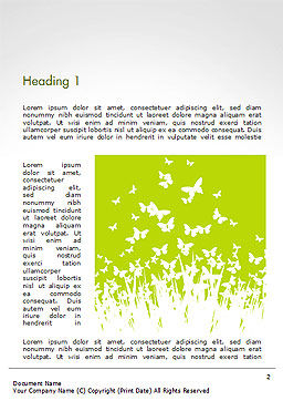 Green Spring Background Word Template First Inner Page