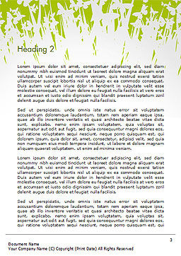 Green Spring Background Word Template Second Inner Page