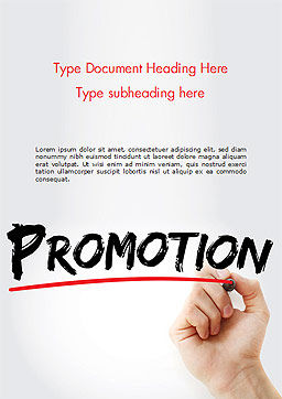 Hand Writing Promotion with Marker Word Template Cover Page