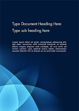 Abstract Blue Background with Smooth Lines Word Template Cover Page