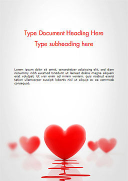 Heart Monitoring Concept Word Template Cover Page
