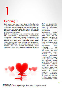 Heart Monitoring Concept Word Template First Inner Page