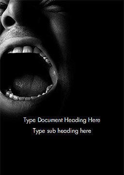 Male Screaming Word Template Cover Page