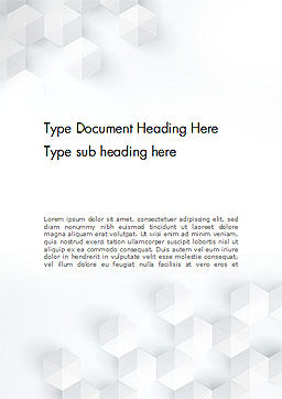 Abstract Isometric Shape Background Word Template, Cover Page, 14536, Abstract/Textures — PoweredTemplate.com