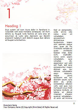 Cherry Blossom Word Template First Inner Page