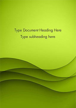 Abstract Green Gradient Wave Background Word Template Cover Page