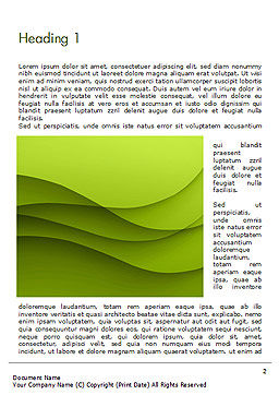 Abstract Green Gradient Wave Background Word Template, First Inner Page, 14538, Abstract/Textures — PoweredTemplate.com