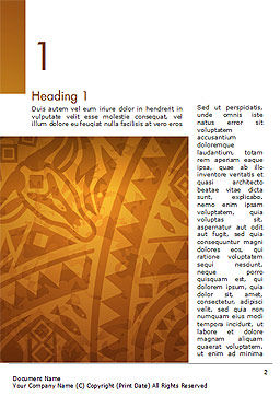 Brown Ethnic Ornament Word Template, First Inner Page, 14540, Art & Entertainment — PoweredTemplate.com