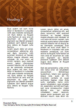 Brown Ethnic Ornament Word Template, Second Inner Page, 14540, Art & Entertainment — PoweredTemplate.com