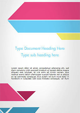 Color Papers Geometry Flat Composition Word Template Cover Page