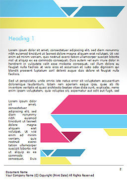 Color Papers Geometry Flat Composition Word Template First Inner Page