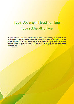 Yellow-green Abstract Soft Background Word Template Cover Page