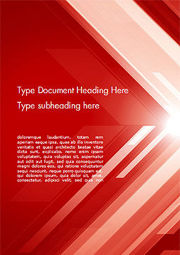 Abstract Red Tech Arrows Background Word Template Cover Page