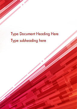 Abstract Background with Red Diagonal Stripes Word Template Cover Page