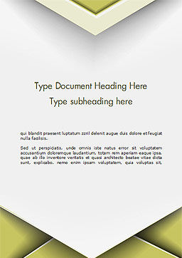 Overlap Paper Layers Word Template Cover Page