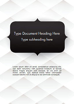 Frame for Text Word Template, Cover Page, 14551, 3D — PoweredTemplate.com