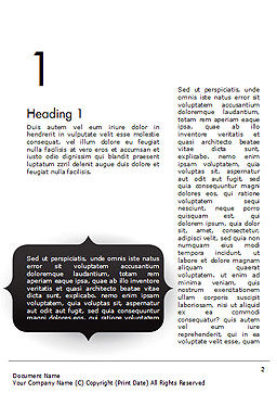 Frame for Text Word Template, First Inner Page, 14551, 3D — PoweredTemplate.com