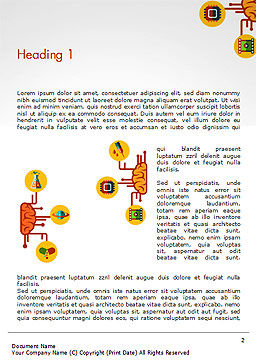 Creative Brainstorming Word Template, First Inner Page, 14554, Business Concepts — PoweredTemplate.com