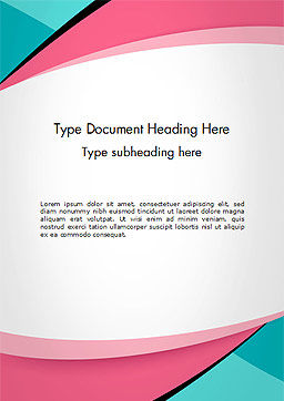 word document front page design