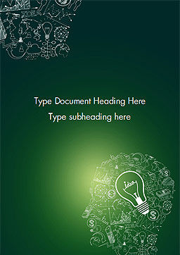 Idea Doodles Word Template, Cover Page, 14559, Business Concepts — PoweredTemplate.com