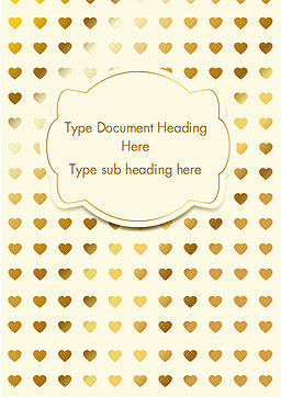 Metal Heart Confetti Pattern Word Template, Cover Page, 14564, Holiday/Special Occasion — PoweredTemplate.com