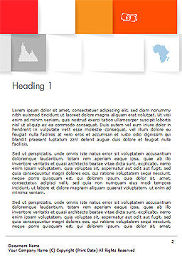 Squares Background Word Template, First Inner Page, 14565, Business Concepts — PoweredTemplate.com