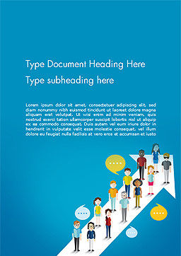 Different Social Groups of People Word Template, Cover Page, 14568, Careers/Industry — PoweredTemplate.com