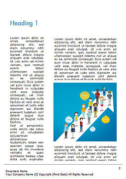 Different Social Groups of People Word Template, First Inner Page, 14568, Careers/Industry — PoweredTemplate.com