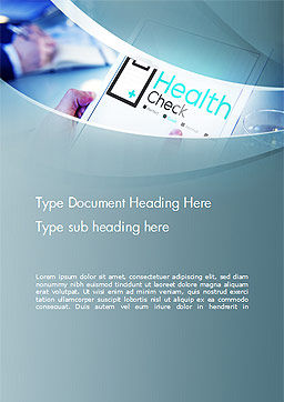 Health Check Diagnosis Concept Word Template, Cover Page, 14574, Business Concepts — PoweredTemplate.com