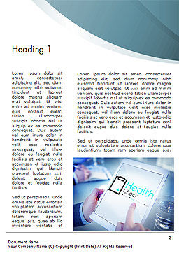 Health Check Diagnosis Concept Word Template First Inner Page