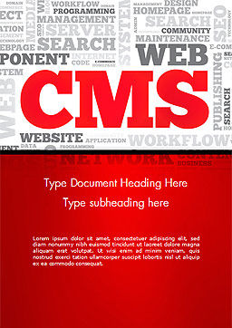 CMS Word Cloud Word Template, Cover Page, 14576, Technology, Science & Computers — PoweredTemplate.com