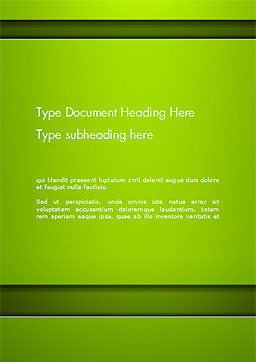 Horizontal Green Background with Lines Word Template Cover Page
