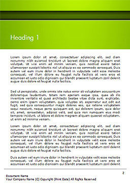 Horizontal Green Background with Lines Word Template First Inner Page
