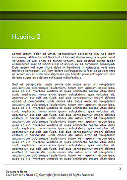 Horizontal Green Background with Lines Word Template Second Inner Page