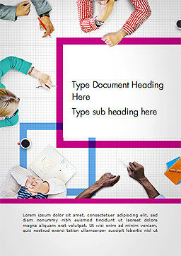 Discussion Meeting Word Template, Cover Page, 14578, People — PoweredTemplate.com