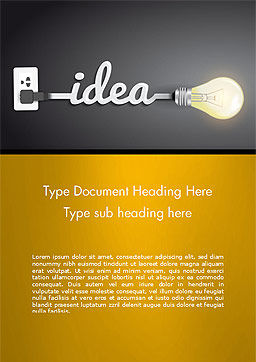 Creative Light Bulb Word Template, Cover Page, 14580, Education & Training — PoweredTemplate.com