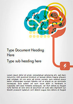 Creative Brain Idea Word Template Cover Page