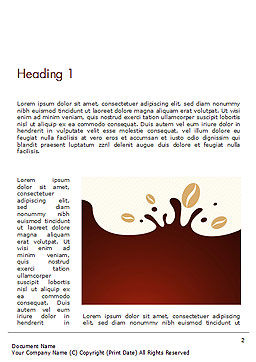 Espresso Flavored Abstract Background Word Template First Inner Page